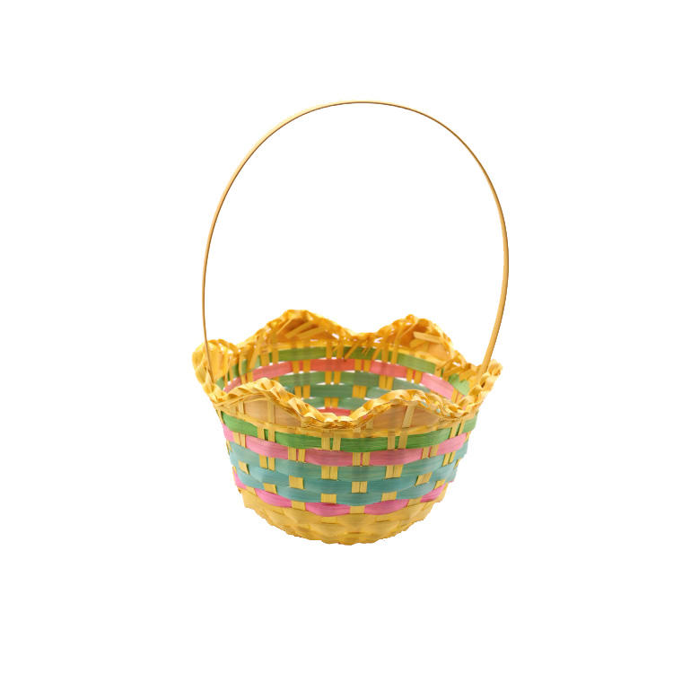 nice gift baskets bamboo with handle
