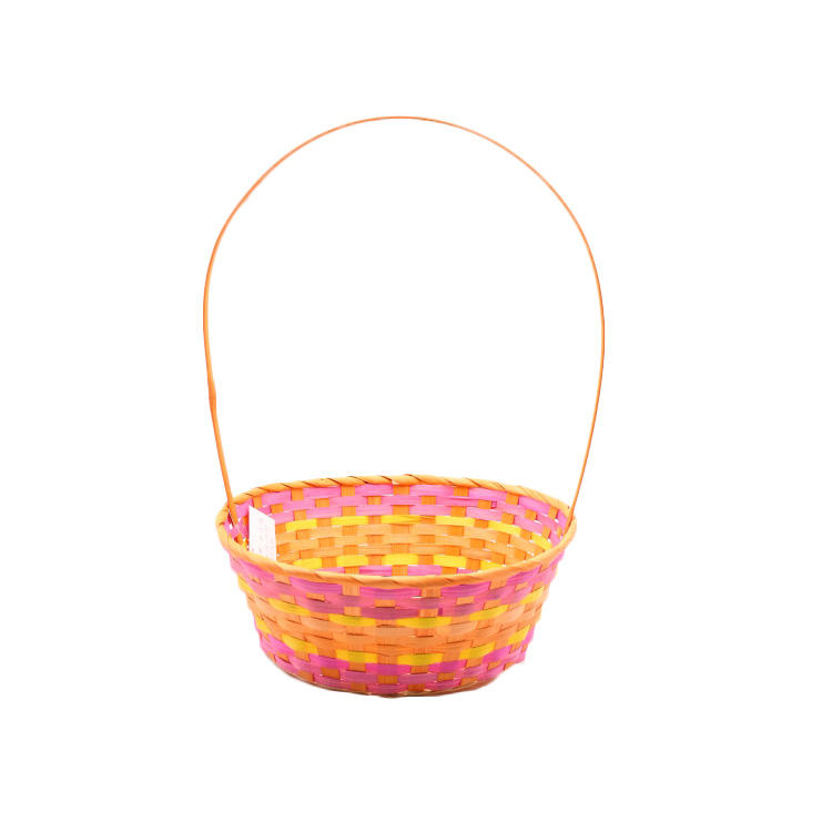 empty hamper basket gift bamboo with handle