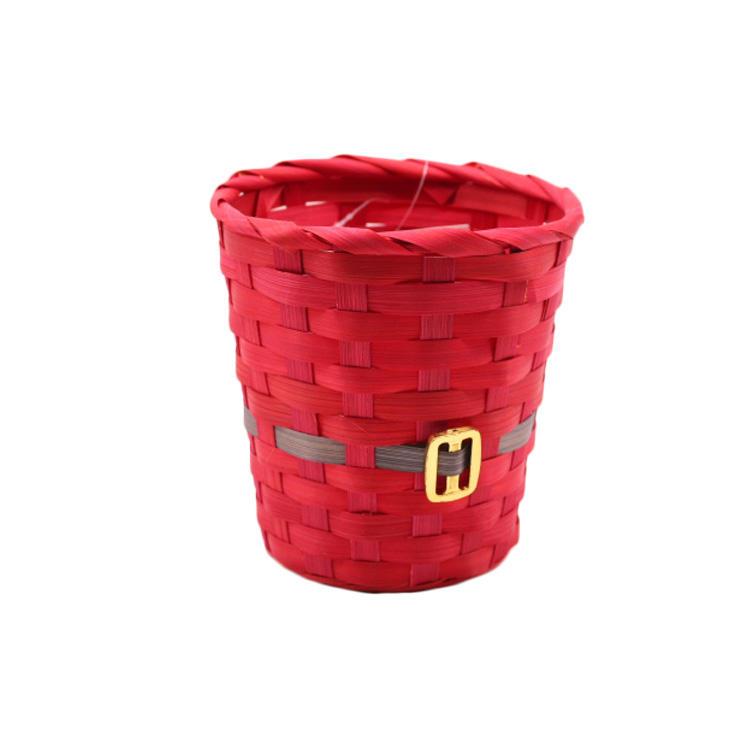 Christmas gift basket supplies bamboo holiday gift storage