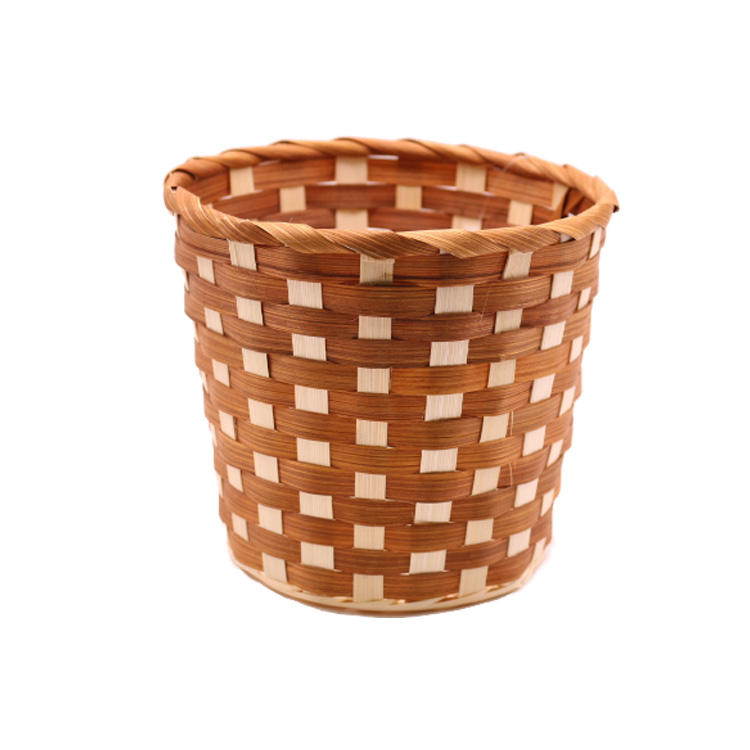 flower plant bamboo baskets for gift