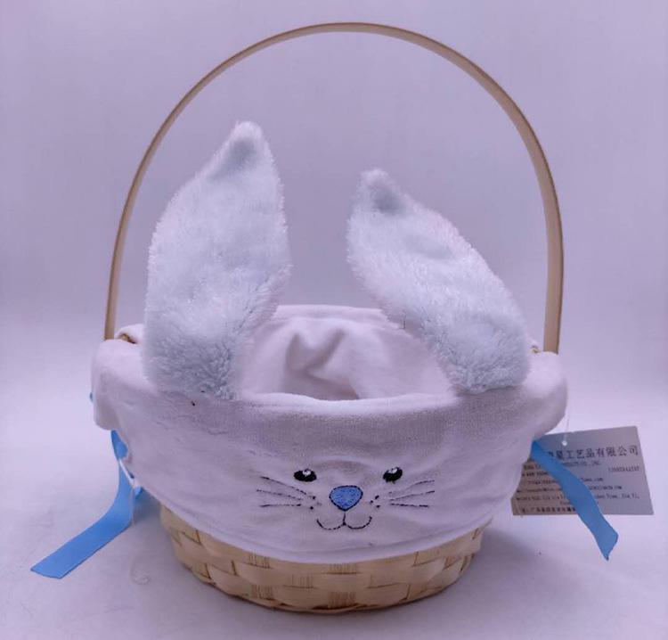 baby gift basket rabbit handle basket