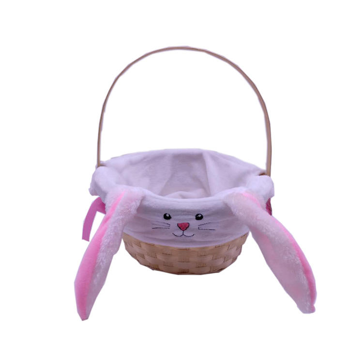 baby gift basket rabbit handle basket