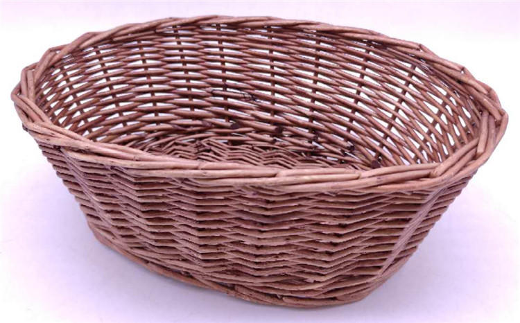 willow wicker shallow flower storage fruit food gift basket