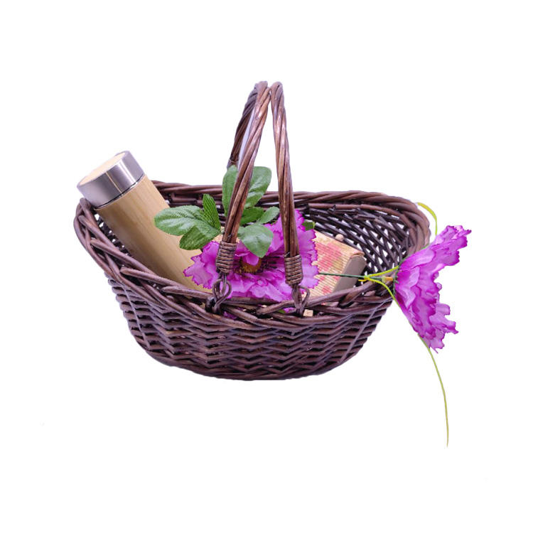 wicker gift basket oval baskets wholesale with handle