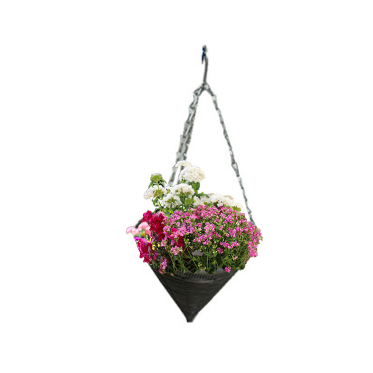 hanging baskets fruit planter flower plastic rattan hang basket