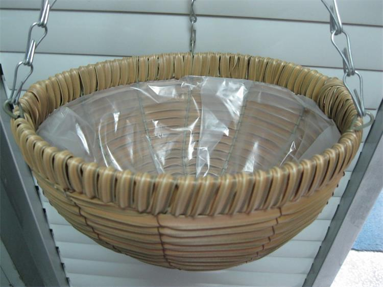 woven plant basket artificial plants rattan basket wall hanging