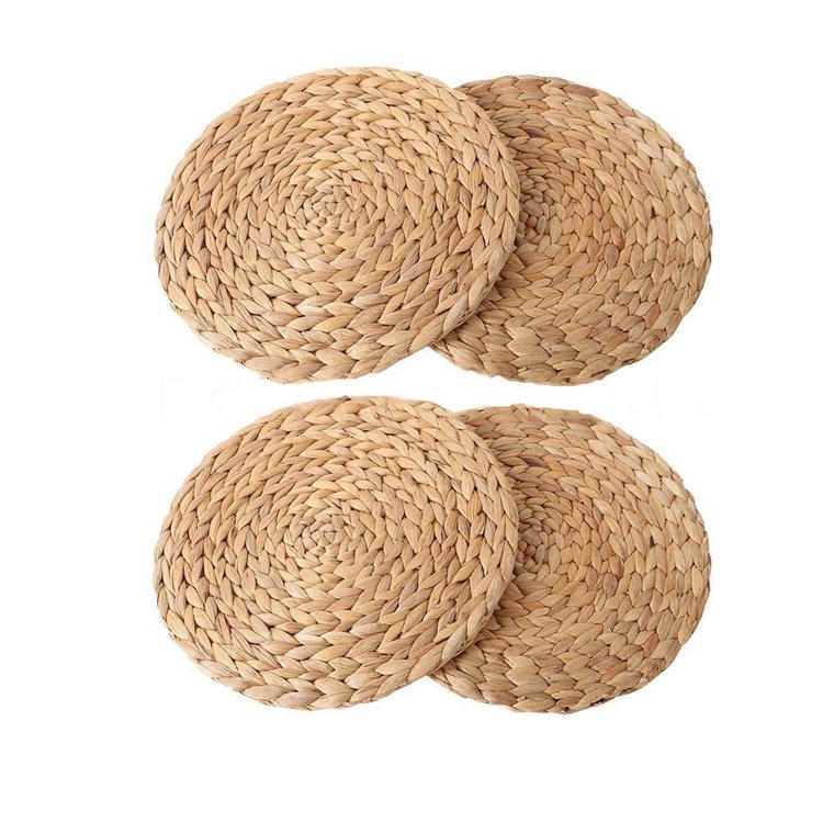 hyacinth placemat round straw woven placemats for dining table