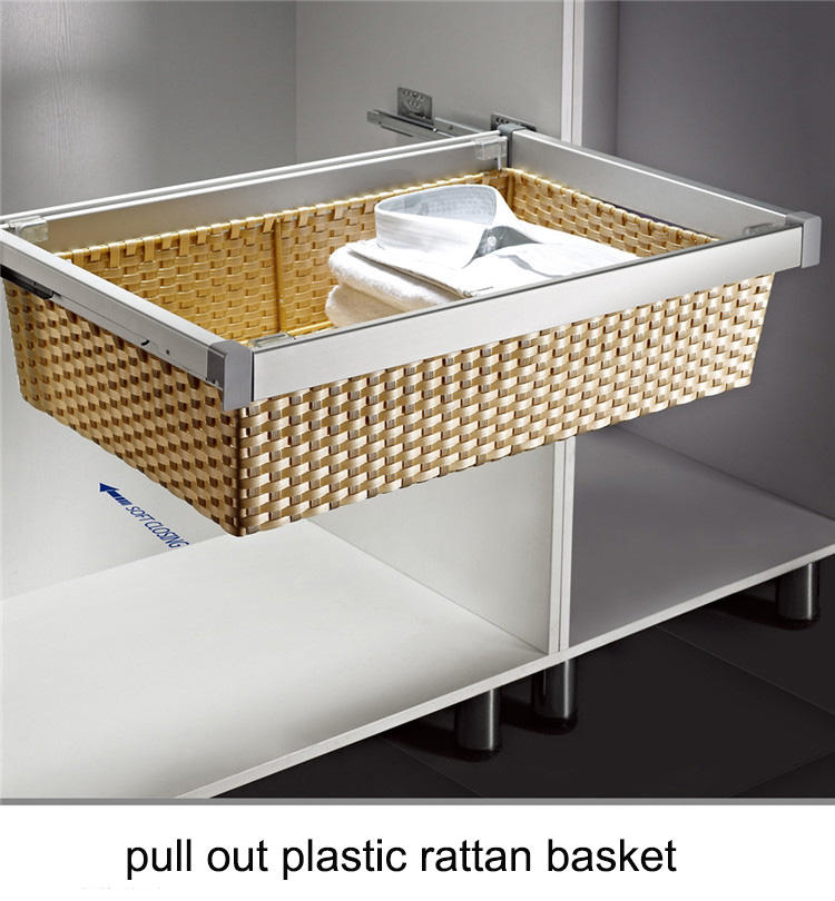 cloth wardrobe basket metal garment rotating cloth basket wardrob accessor
