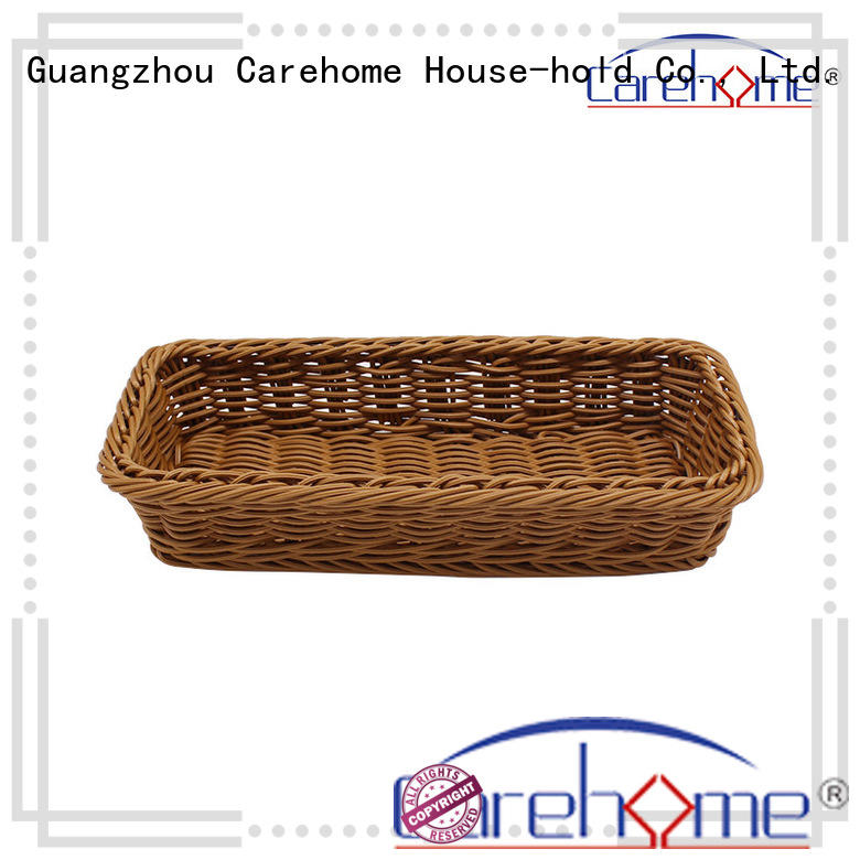 Carehome non-toxic wicker baskets kitchen manufacturer for family