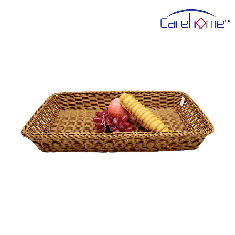 BL-1015 wholesale food-contact safety PP rattan bakery basket