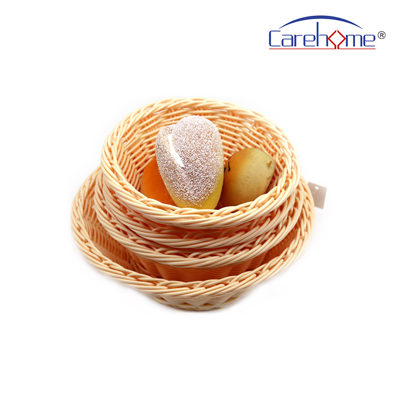 Carehome round plastic bread basket wholesale for market-1