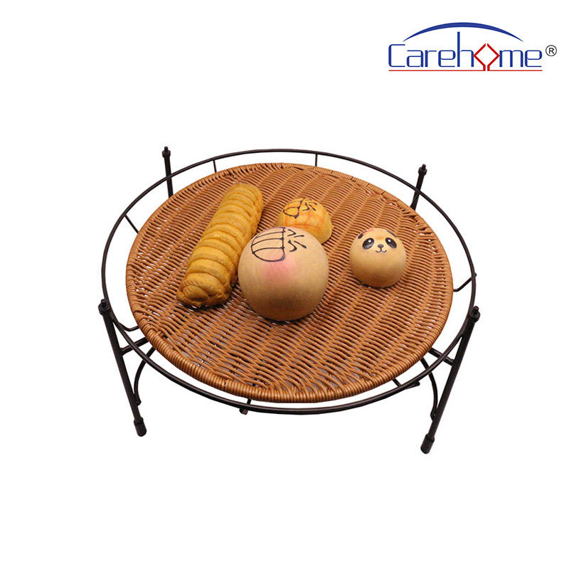 BSL-1036 CAREHOME  displaying stand of Round、 Square、 Rectangle, black iron stand
