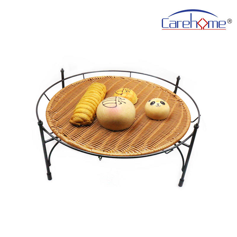 BSL-1036 CAREHOME  displaying stand of Round、 Square、 Rectangle, black ironstand