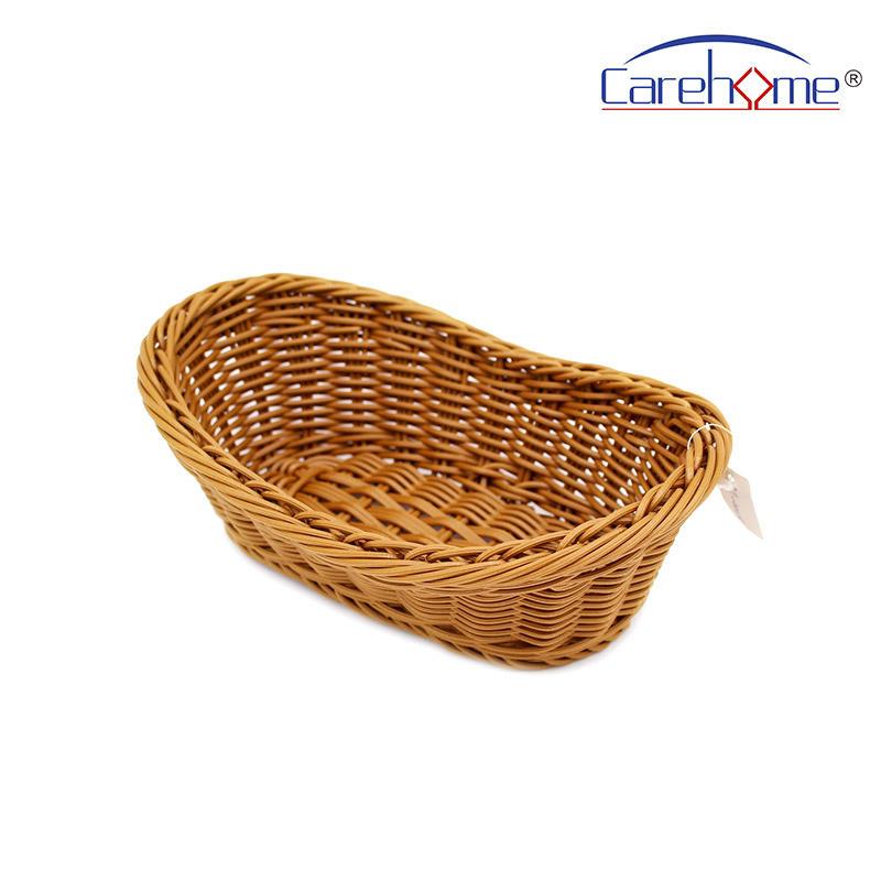 BT-4003 Hand weaved graceful GN plastic Rattan bread basket for hotel