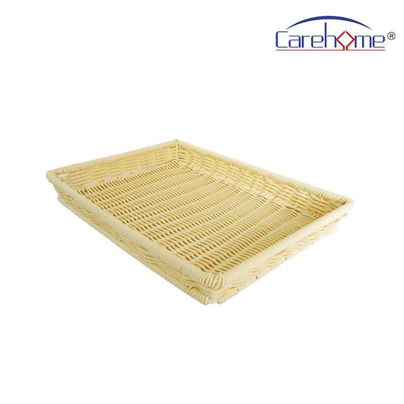 TL-1012 High-quality Durable graceful poly rattan basket bread basket for displaying