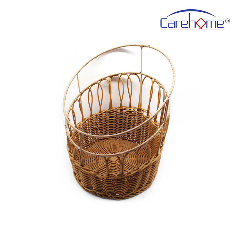 TL-1034 High-quality Durable graceful poly rattan basket bread basket for displaying