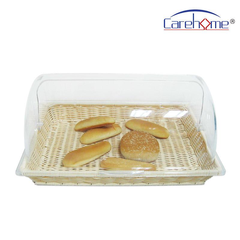 TL-1035  Hand weaved gracefulplastic Rattan bread basket for hotel