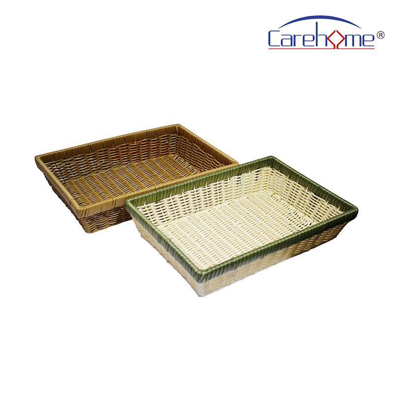 TZ-1012 Hand weaved graceful GN plastic Rattan bread basket for hotel-Carehome-img