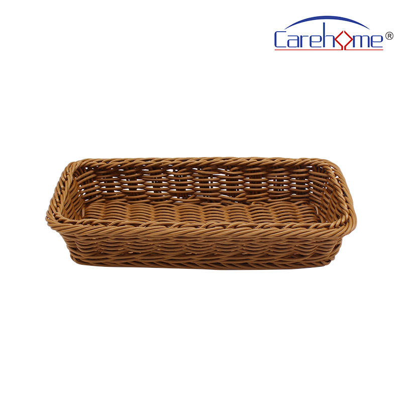 BL-1001 wholesale food-contact safety PP rattan bakery basket, handcraft plastic basket