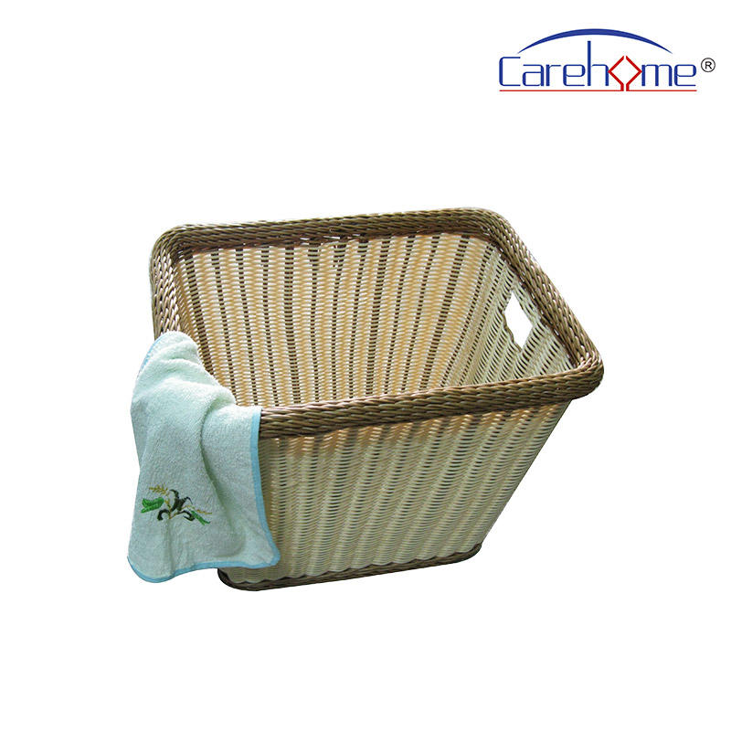 BL-1048 CAREHOME  Durable handmade rattan towel basket for bathroom