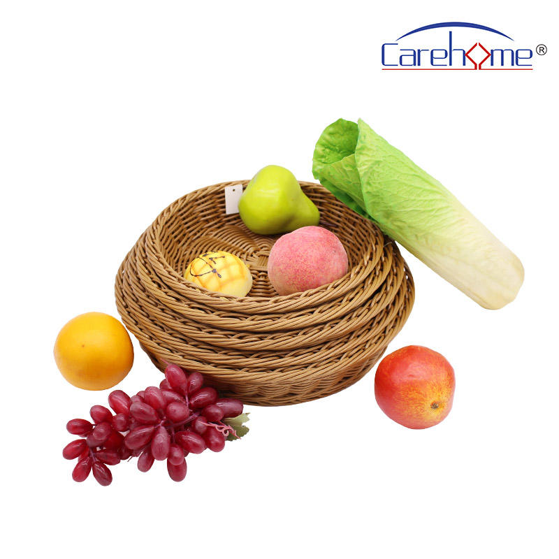 BR-0027A High- quality hand weaved washable PP Rattan food tray in sets