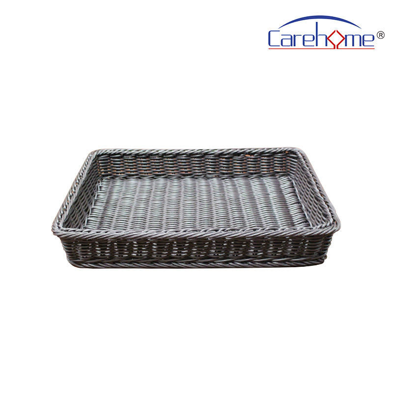 BL-1024 factory wholesale plastic rattan storage basket for bread or fruit