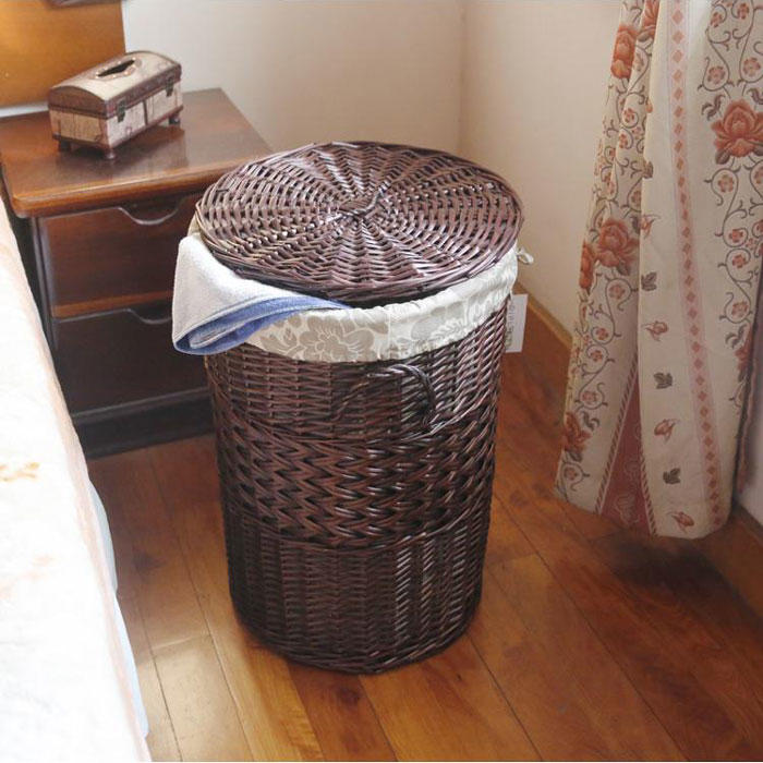 Laundry pp rattan basket for home or hotel bathroom