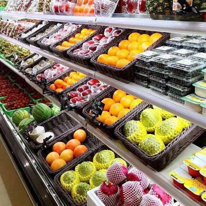 Market pp rattan basket for fruit and vegetable