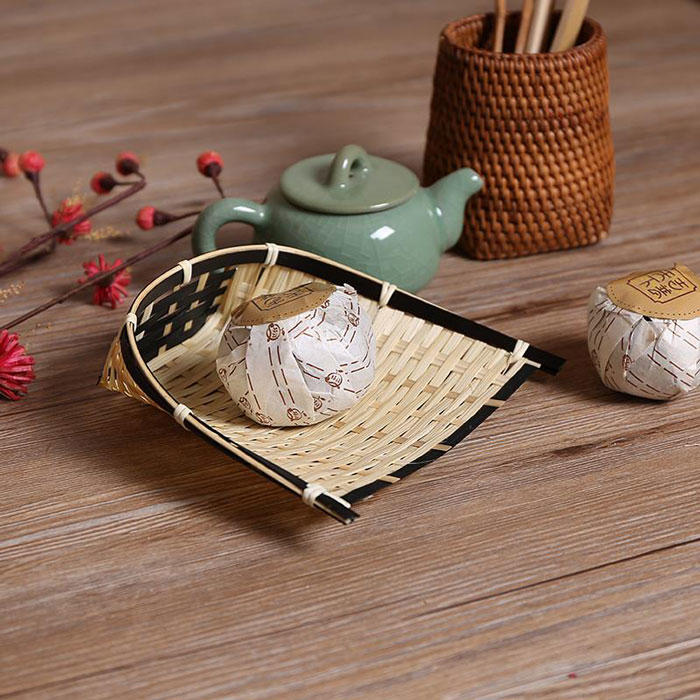 Artistic pp bamboo basket for tea or biscuit