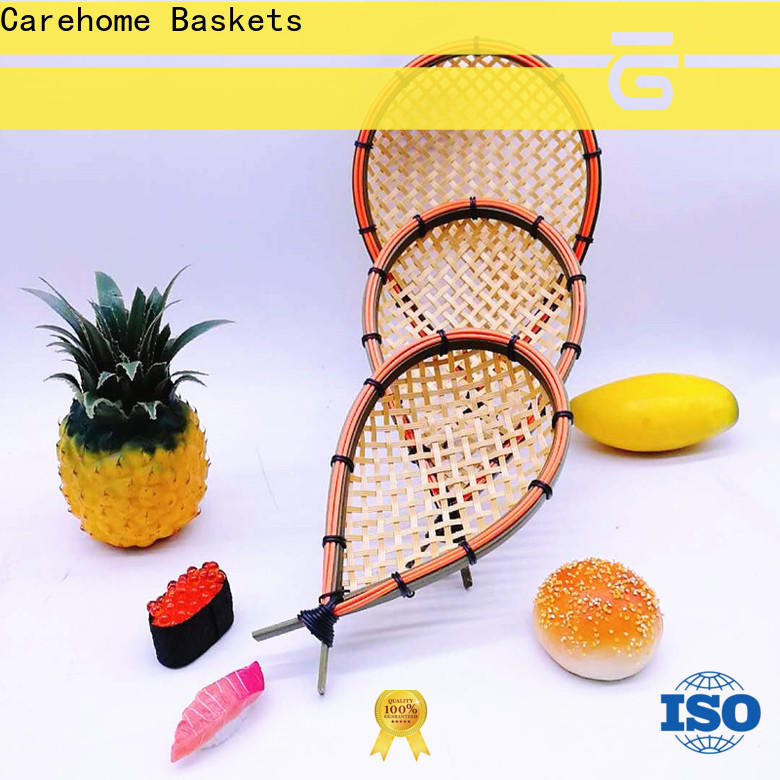Carehome multifunctional white bamboo basket on sale for supermarket