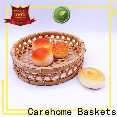 round woven bamboo basket foods ecofriendly for supermarket