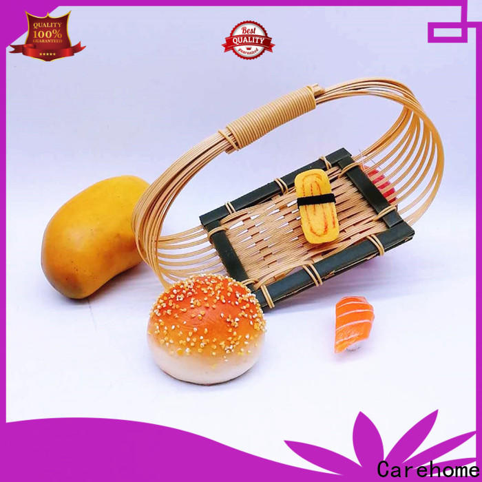 Carehome handmade round bamboo basket easy to clean for sale