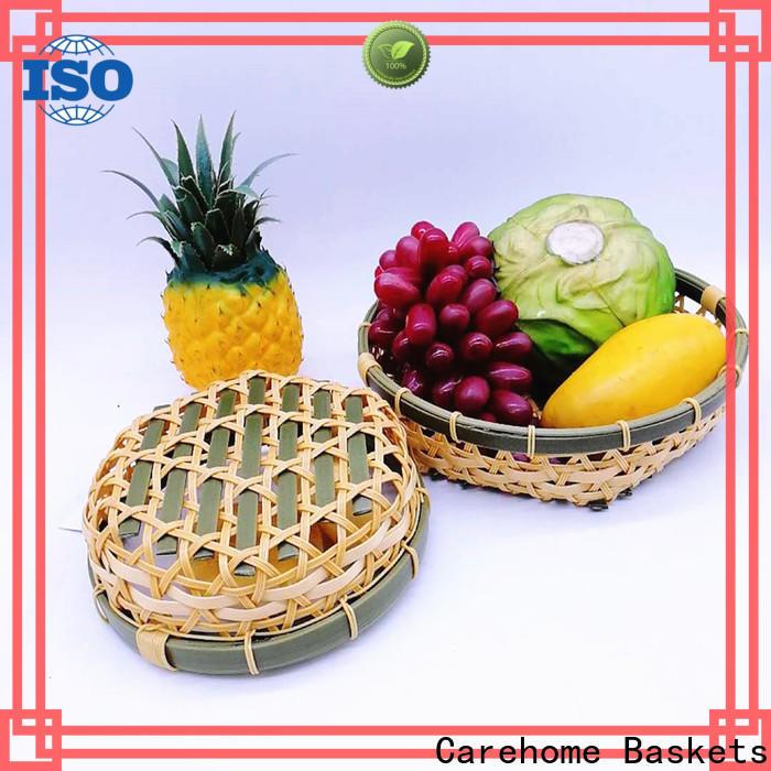 washable oval bamboo basket fruit on sale for market