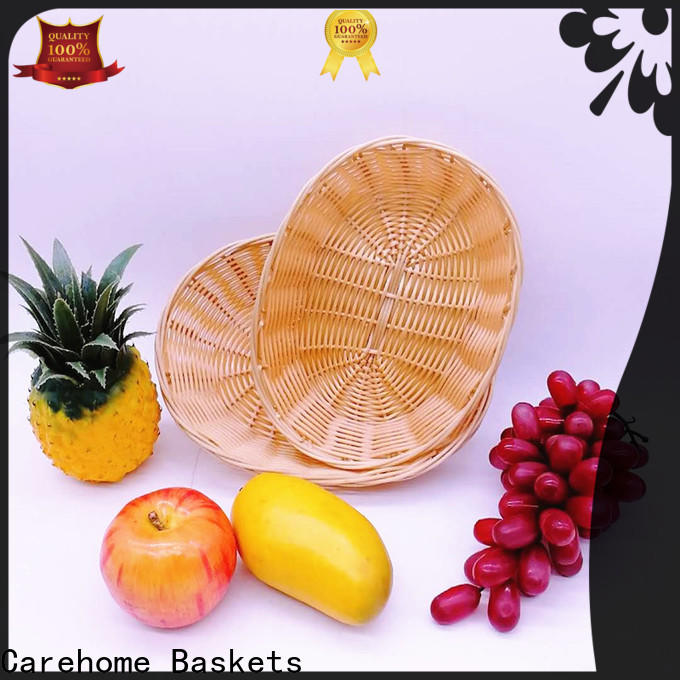 Carehome bamboo wicker baskets kitchen with high quality for shop