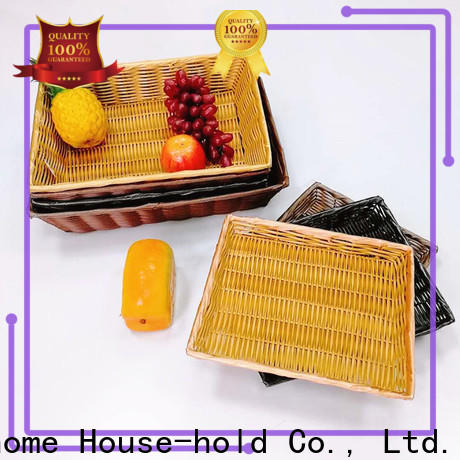 Carehome cake rattan bread basket with high quality for shop