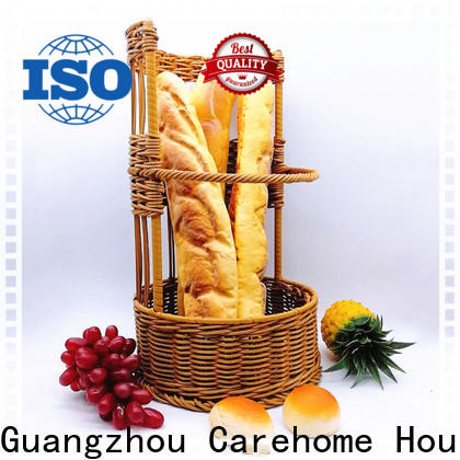 Carehome foldable rattan bread basket supplier for shop