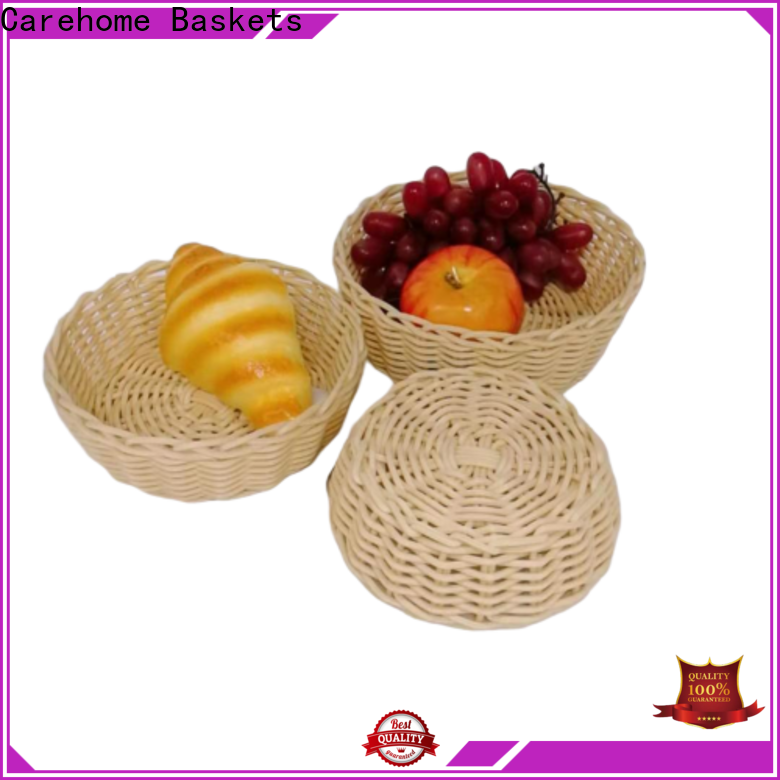 Carehome bamboo bread basket with high quality for market