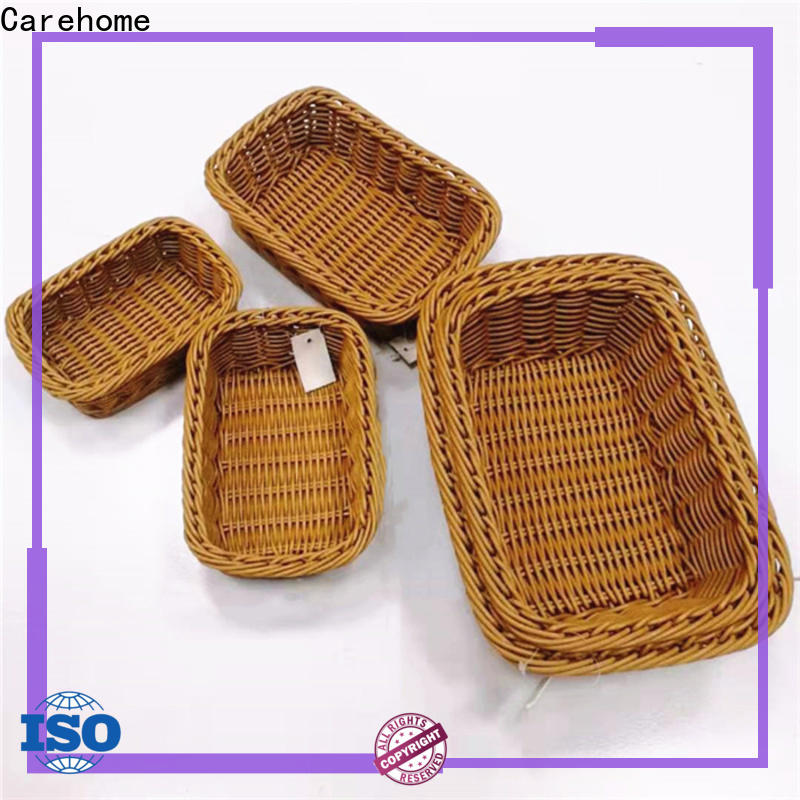 Carehome convinence wicker storage baskets for shelves supplier for shop