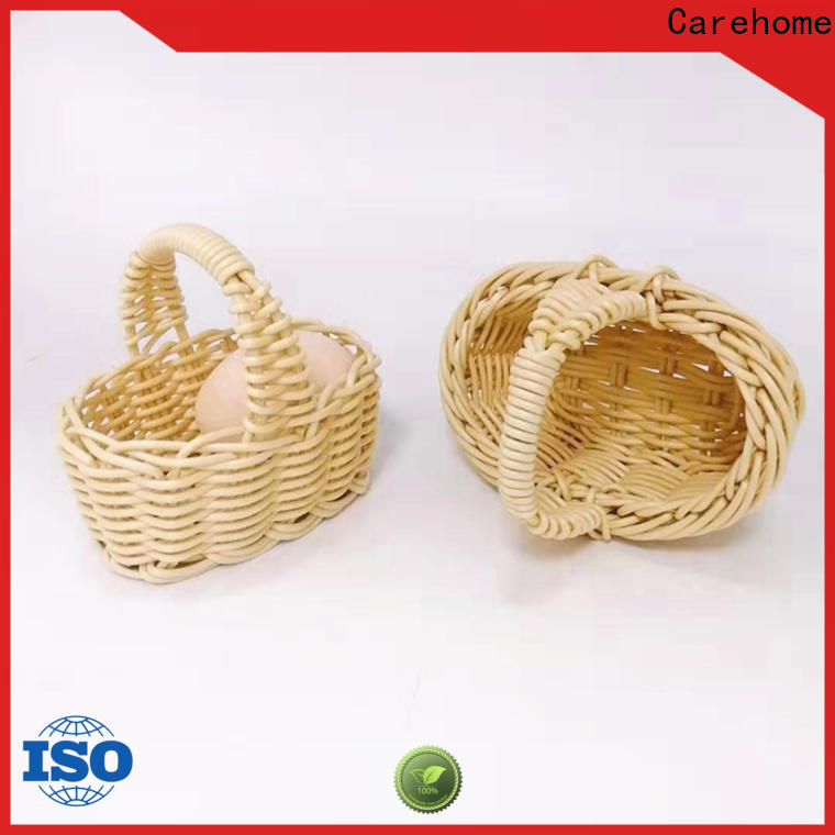 Carehome foldable wicker bread basket wholesale for supermarket