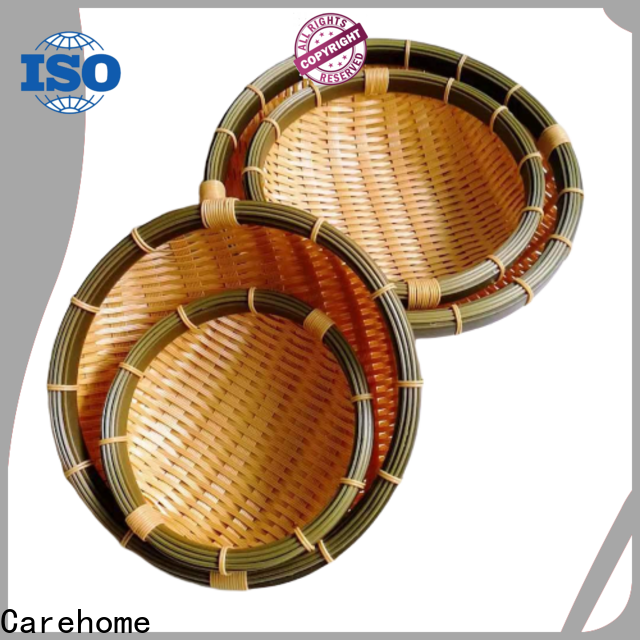 Carehome hollow bamboo basket making with high quality for family