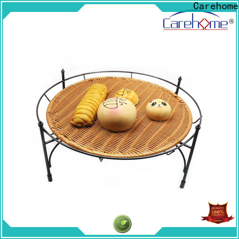 plastic rattan bread basket displaying  with high quality for sale