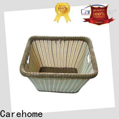 Carehome durable wicker laundry basket manufacturer for family