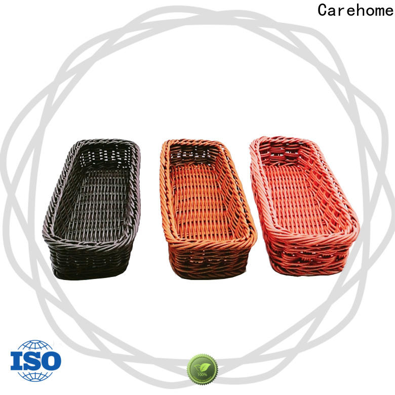 Carehome bamboo storage baskets manufacturer for family