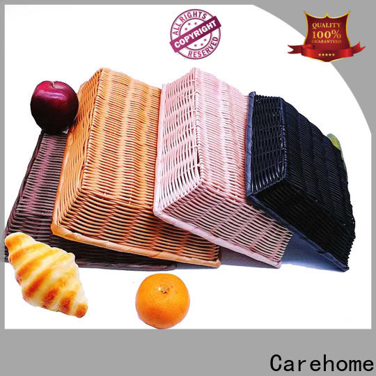 Carehome basket  wicker storage baskets for shelves with high quality for supermarket