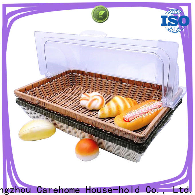 Carehome foodcontact plastic bread basket supplier for market