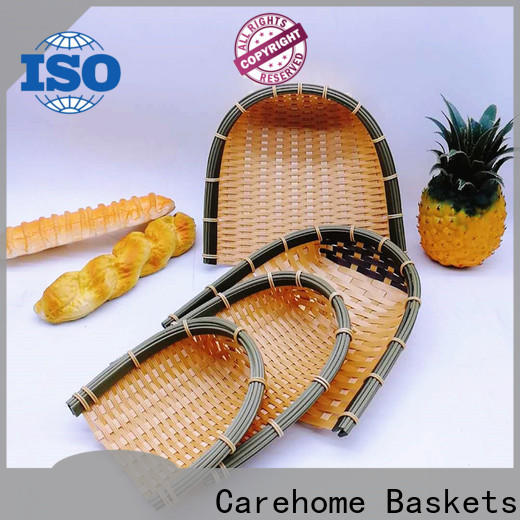 Carehome hollow woven bamboo basket with high quality for shop