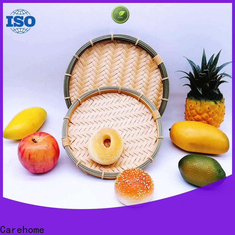 Carehome hollow bamboo baskets cheap easy to clean for shop