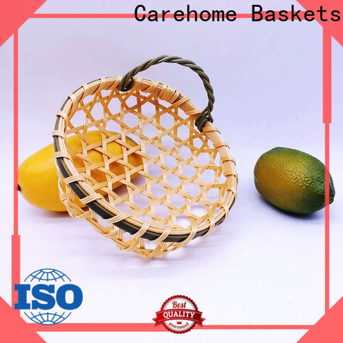 Carehome multifunctional bamboo basket making easy to clean for family