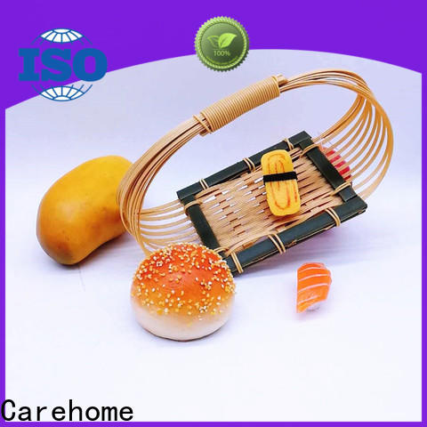 Carehome oval bamboo basket with handle with high quality for supermarket