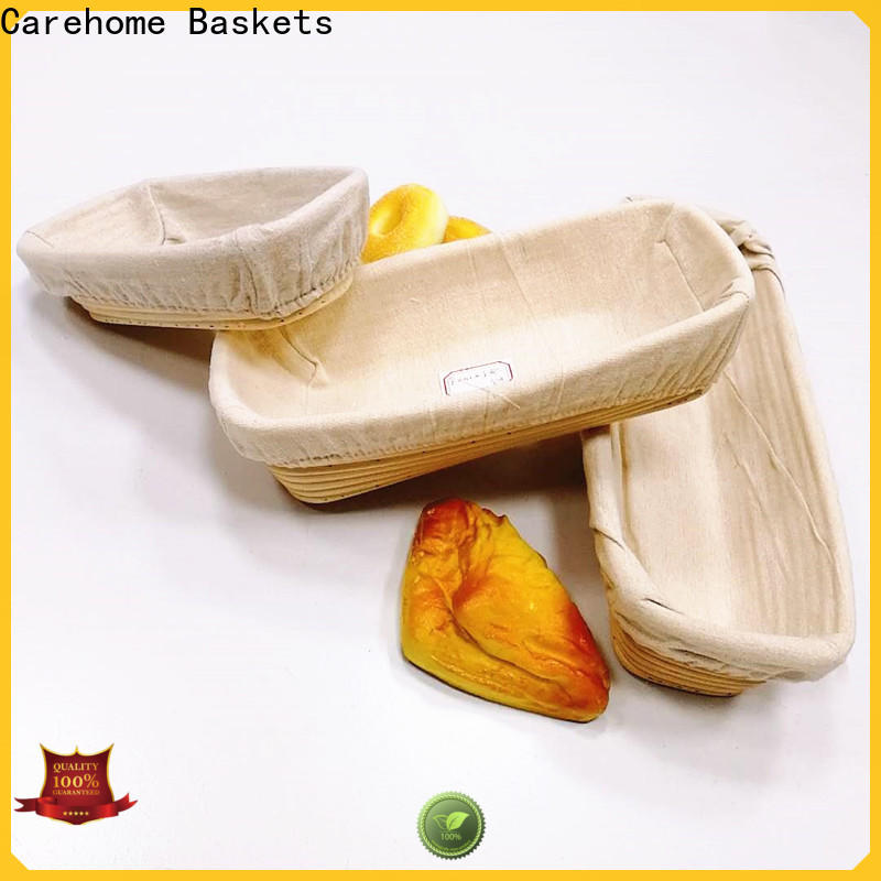 Carehome microwave safety wicker bread basket wholesale for market